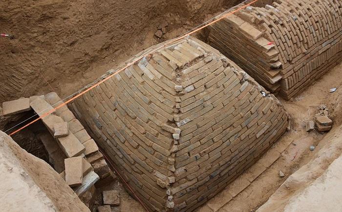 Древние гробницы, найденные в китайском округе Чжэнчжоу. | Фото: dailymail.co.uk.