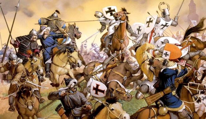 В битве при Легнице участвовали даже рыцари Тевтонского ордена.